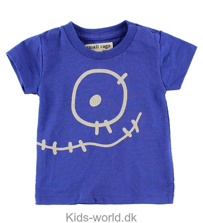 Small Rags T-Shirt - Blå m. Ansigt