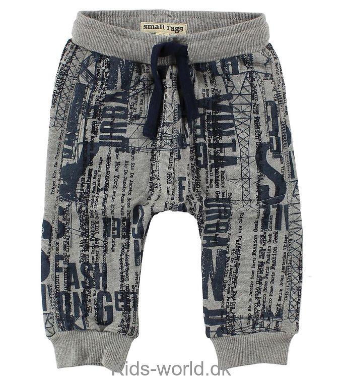 Small Rags Sweatpants - Gråmeleret m. Print