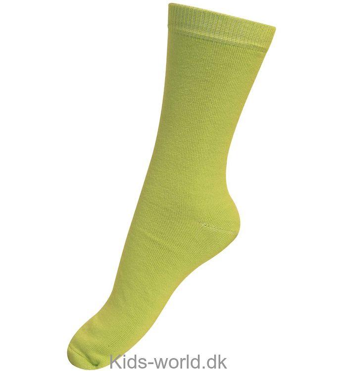 Melton Basis Strømper - Limegrøn
