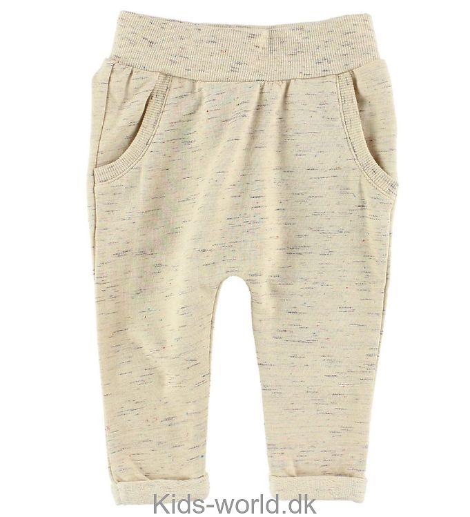 Small Rags Sweatpants - Crememeleret m. Nister
