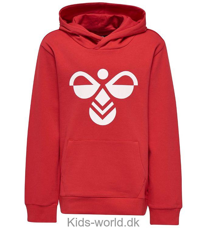 Hummel Hættetrøje - Cool - Rød m. Logo