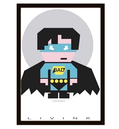 Hero Boy Plakat A4 Fra Livink