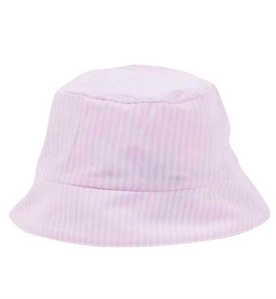 Pink/Hvid Stribet Solhat Fra Les Reves d Anais