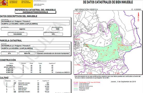 Paraje HUERTA DE LA HIGUERA POLIG.11 PARC.68 , Líjar, Almería