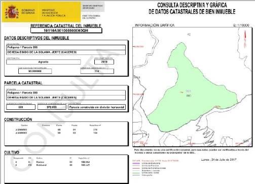 Carretera N-110 KM 363,POLIGONO 1, PARCELAS, 40,890,891,892 0 0, Jerte, Cáceres