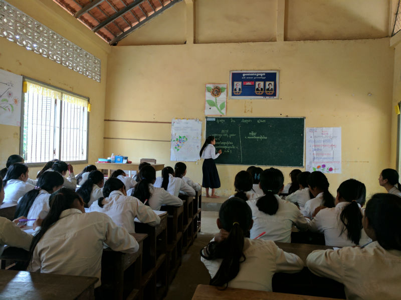 Cambodia Room to Read Girls Education Classroom