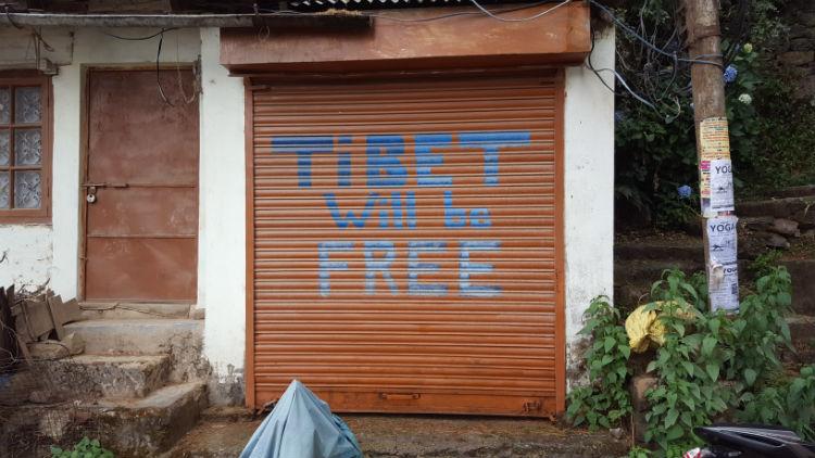 The pro-Tibet sentiment is strong in McLeod Ganj.