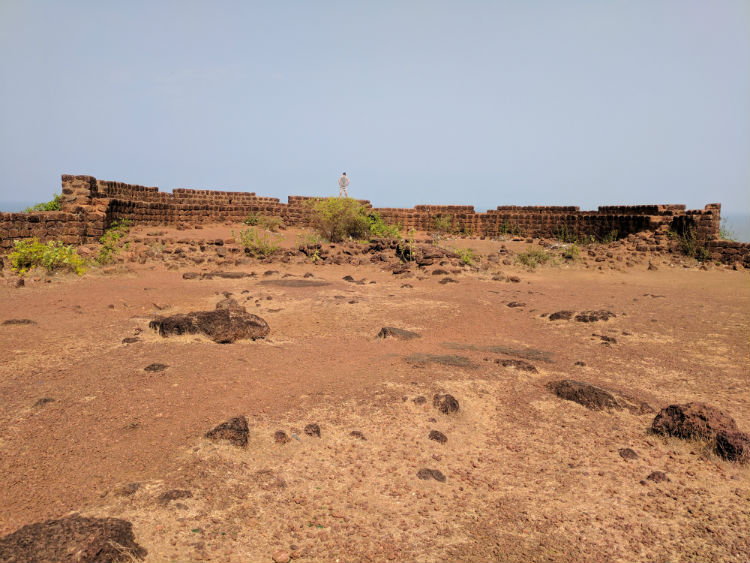 Exploring one of the many forts at Goa.