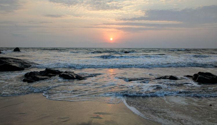 Sunset at a Goan beach.