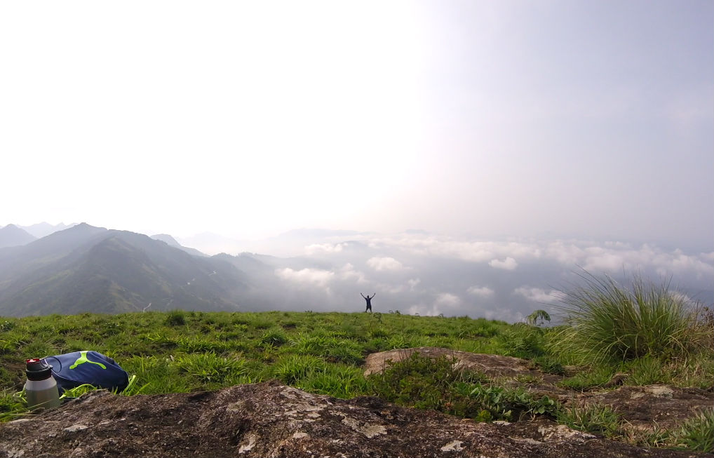When you're hiking above the clouds and feel so god-like.
