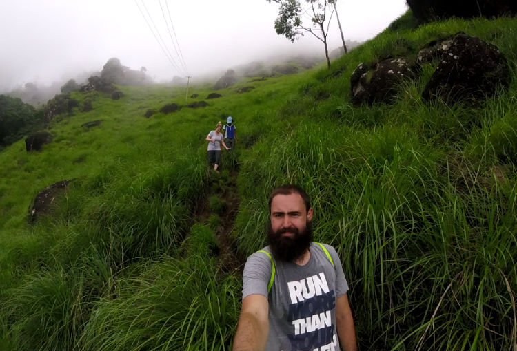 Lakshmi Hills descent - making our long way down.