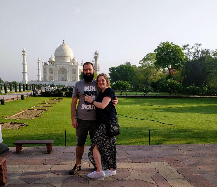 Dan and Jan at Taj Mahal