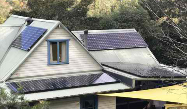 Solar panel instal on a Sydney home
