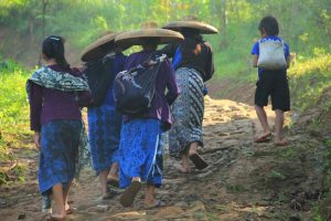Baduy People Walking