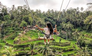 Taking a swing at Tegalalang Rice Terrace