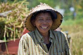 Smiling Farmer in Bali