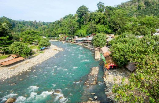 A river in Bukit Lawang