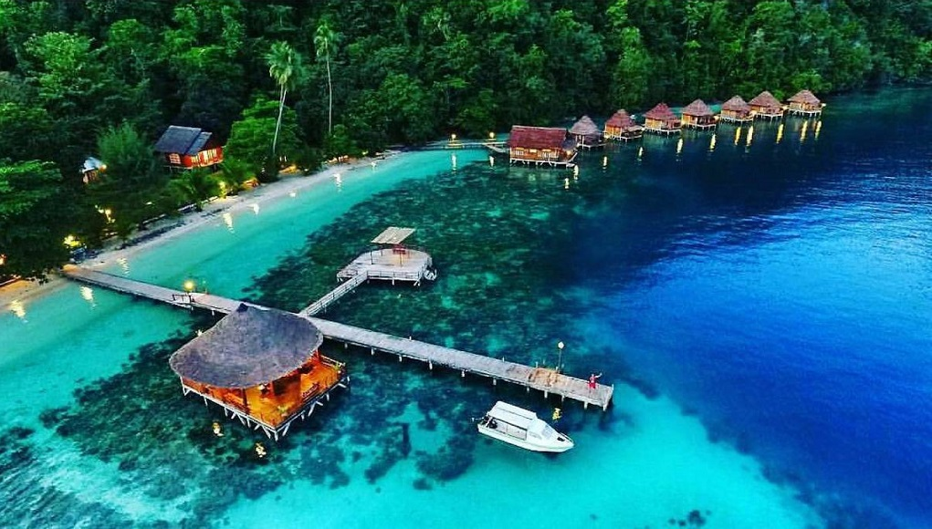 The beauty of Ora Beach in Central Maluku
