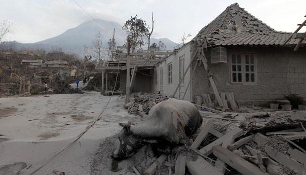 The devastating view after Mount Merapi explosion