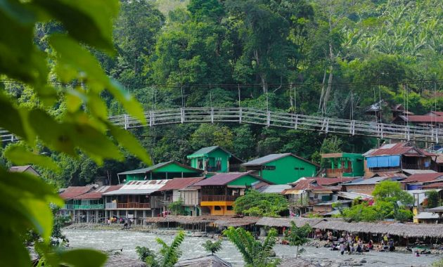 The village in Bukit Lawang
