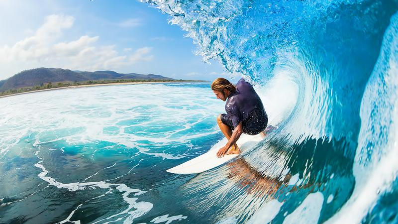 Surfing the great waves of Indonesia