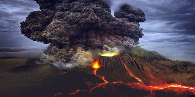The Explosion of Mount Merapi