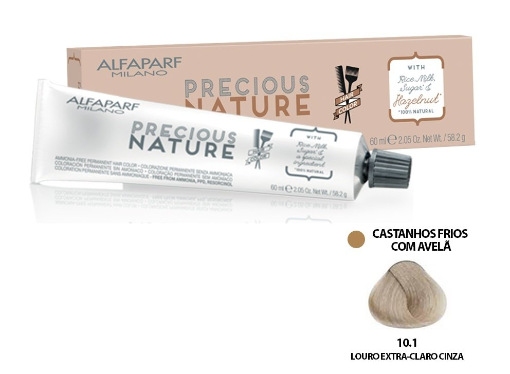 Alfaparf Coloração Precious Nature Hair Color 10.1 60 ml
