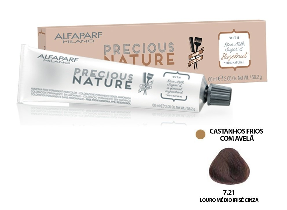 Alfaparf Coloração Precious Nature Hair Color 7.21 60 ml