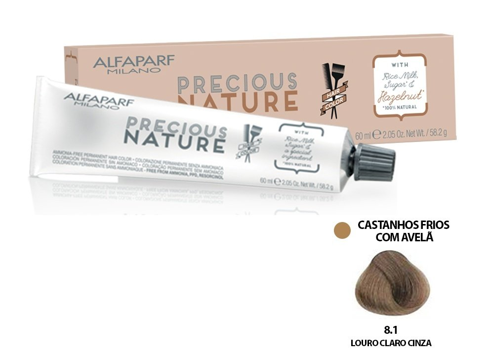 Alfaparf Coloração Precious Nature Hair Color 8.1 60 ml