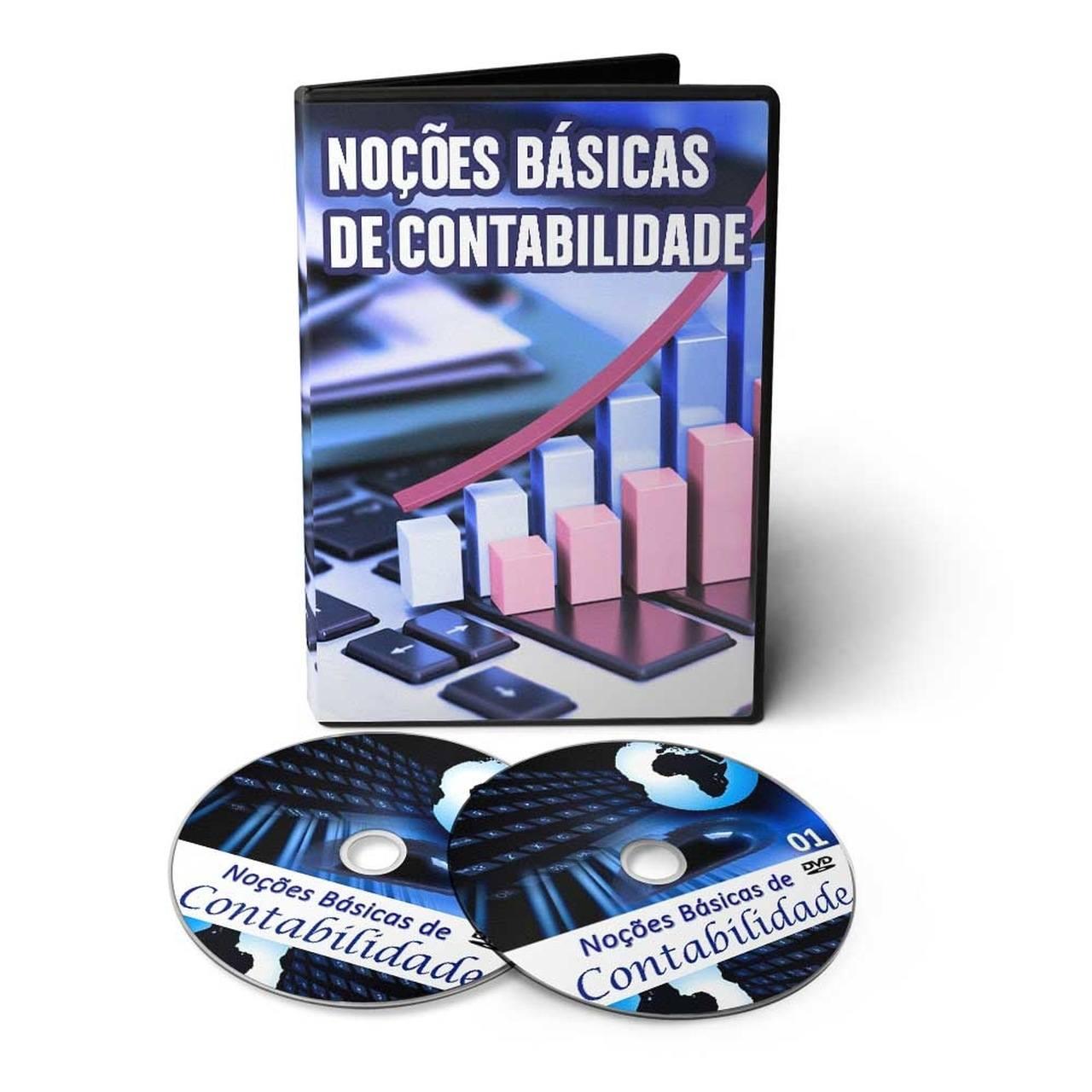 Curso de Noções Básicas de Contabilidade em 02 DVDs Videoaula