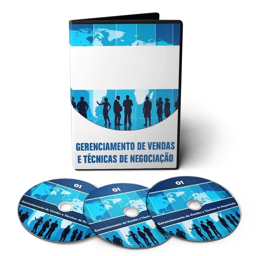 Curso Gerenciamento de Vendas e Técnicas de Negociação em 02 DVDs Videoaula