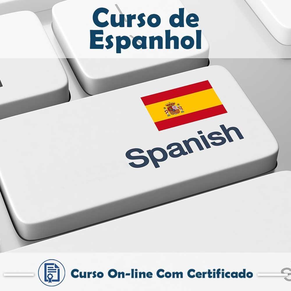 Curso online em videoaula de Espanhol com Certificado
