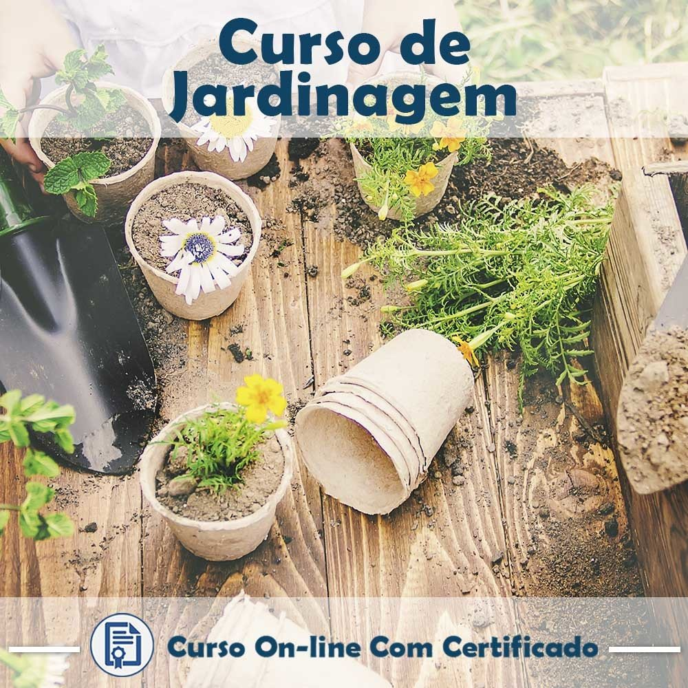 Curso online em Videoaula de Jardinagem com Certificado