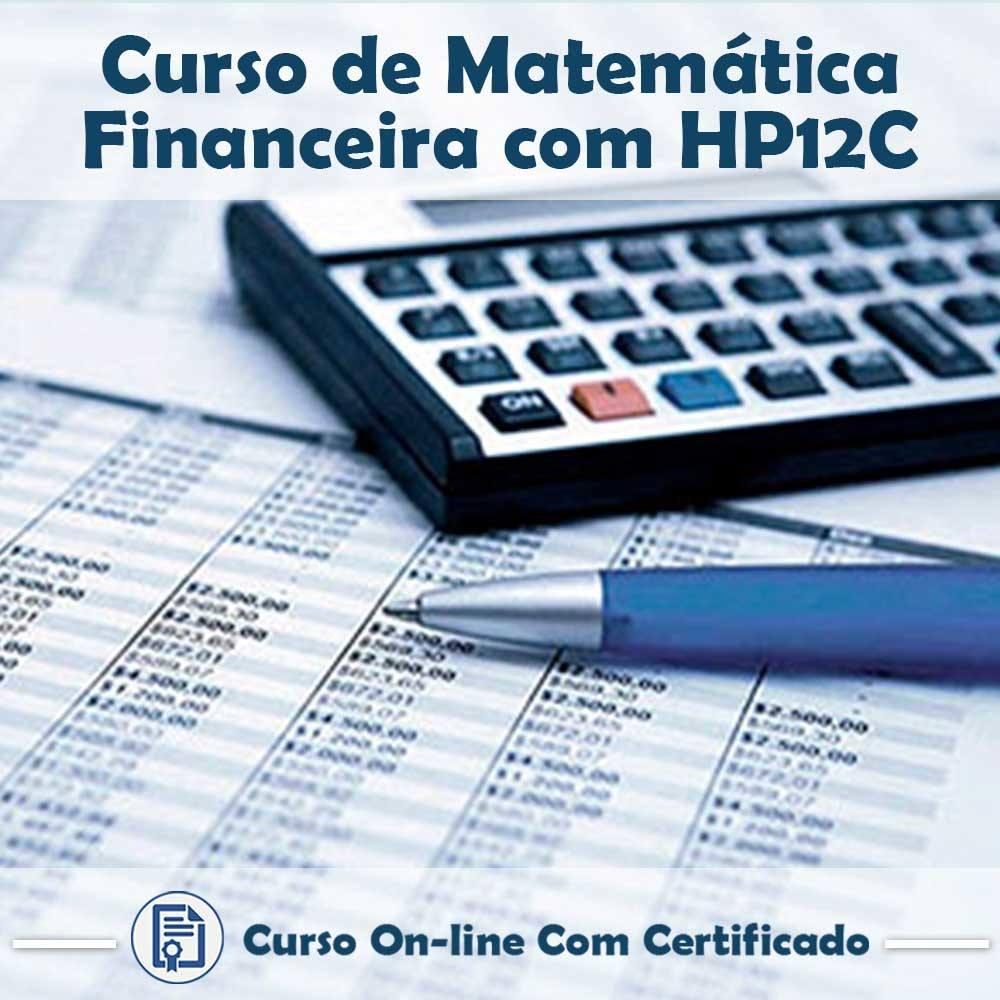 Curso online em videoaula de Matemática Financeira com HP 12C na Prática com Certificado