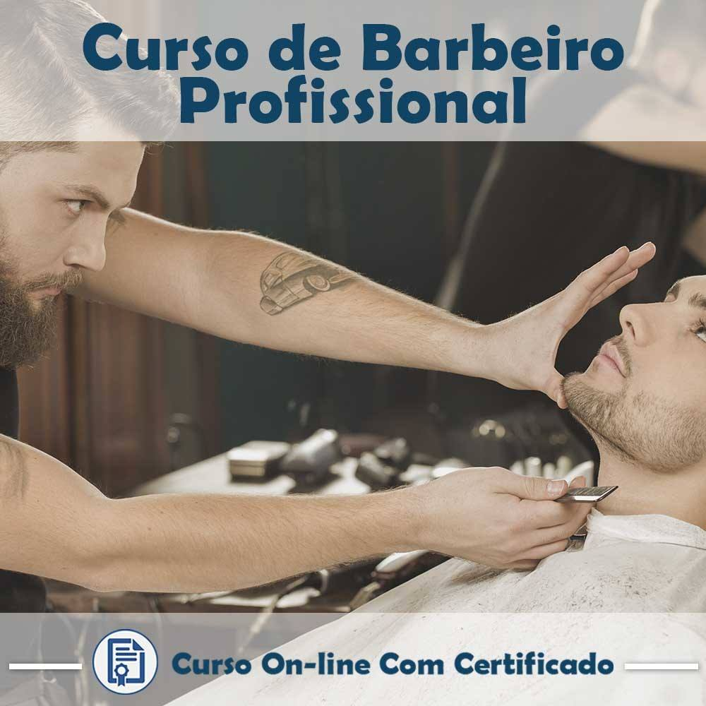 Curso online em videoaula torne-se um Barbeiro Profissional com Certificado