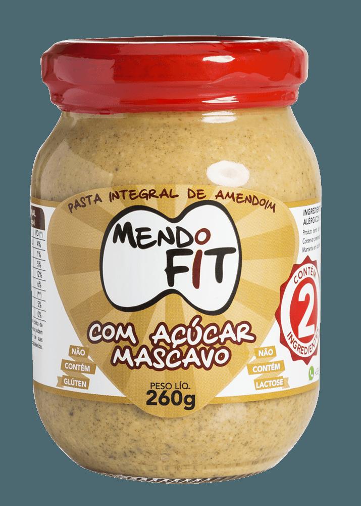 Pasta de amendoim Mendo Fit com açúcar mascavo 260g