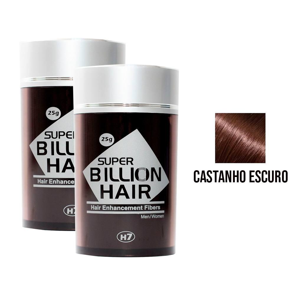 Kit 02 Maquiagem pra Calvície Billion Hair - Cast Escuro 25g