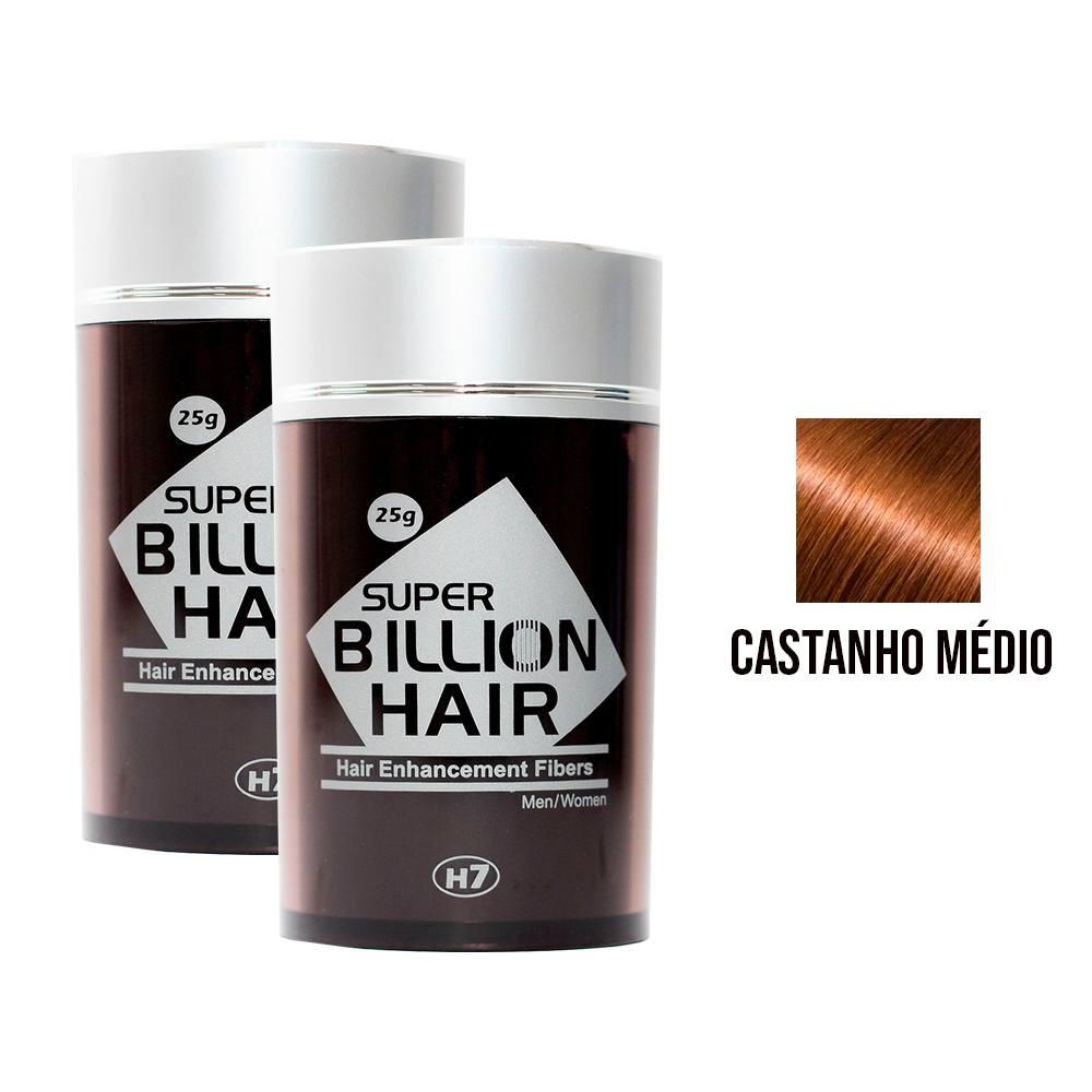 Kit 02 Maquiagem pra Calvície Billion Hair - Cast Médio 25g