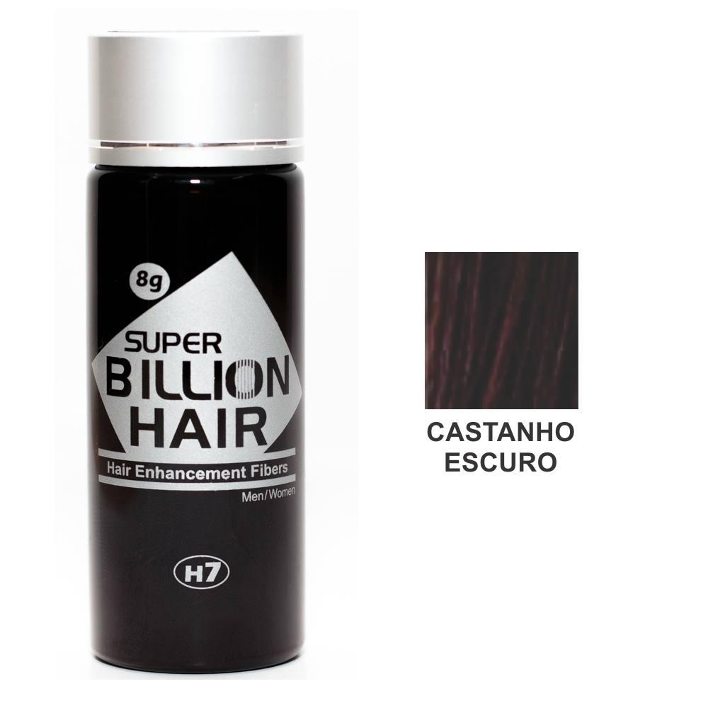 Kit 03 Maquiagem pra Calvície Billion Hair - Cast Escuro 8g