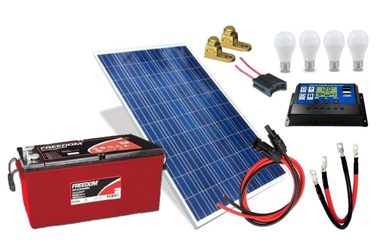 Kit Gerador de Energia Solar 150Wp - Gera até 435Wh/dia