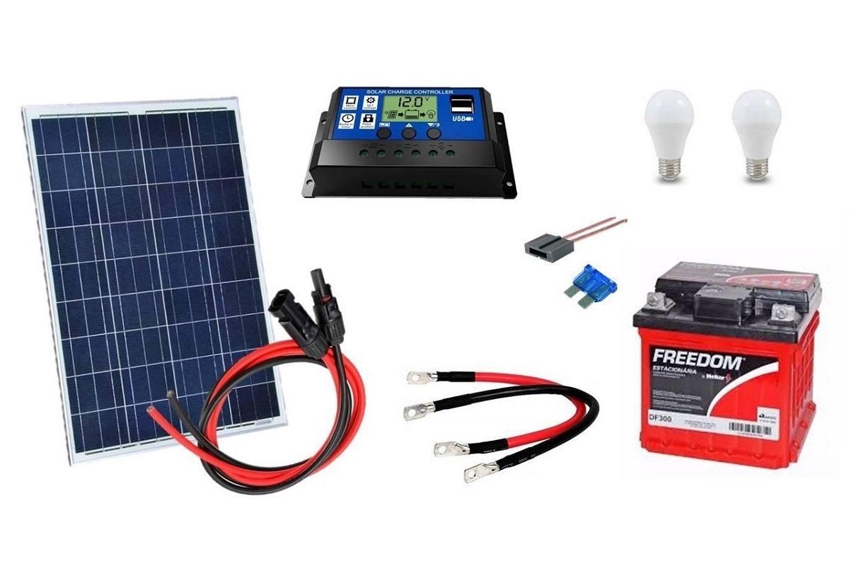 Kit Gerador de Energia Solar 20Wp - Gera até 65Wh/dia