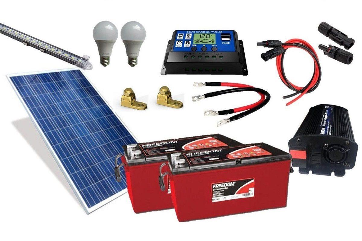 Kit Gerador de Energia Solar 330Wp - Gera até 870Wh/dia
