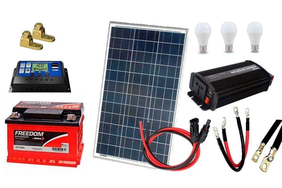 Kit Gerador De Energia Solar 60wp - Gera Até 160wh/dia