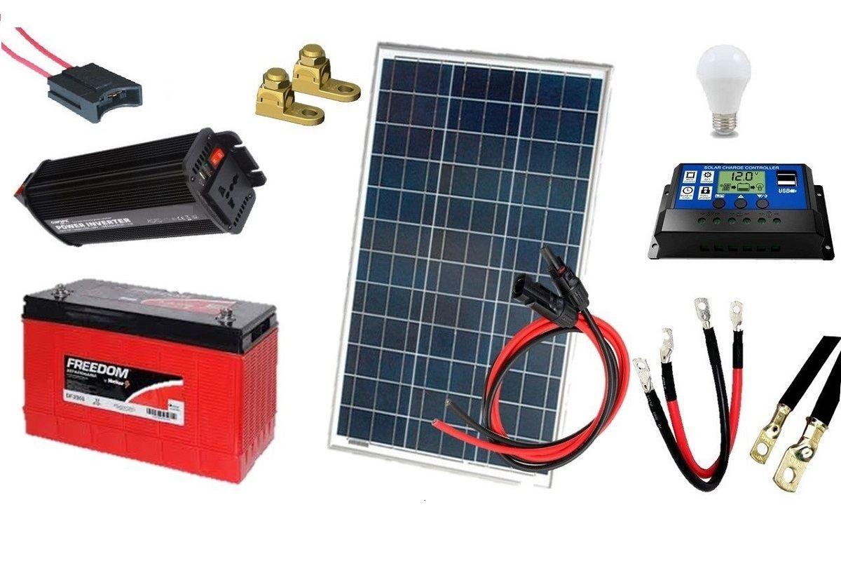 Kit Gerador de Energia Solar 90Wp - Gera até 259Wh/dia
