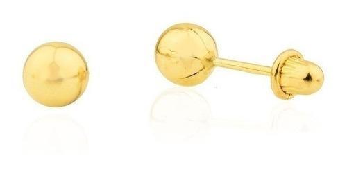 Kit Pulseira E Brinco De Bolinha Recem Nascido Ouro 18 K