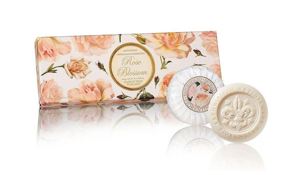 Kit Sabonete Sólido Fragrância Rose Blossom 3x100g Fiorentino
