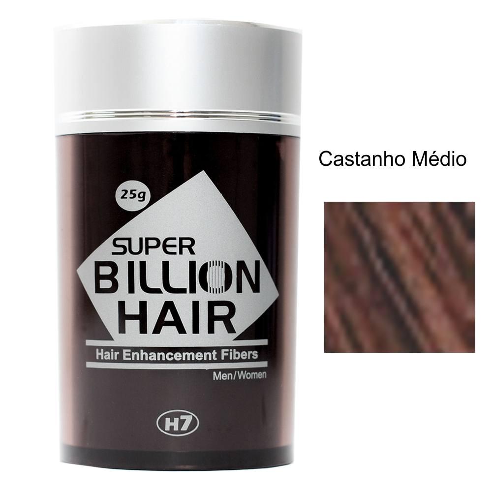 Maquiagem para Calvície - Super Billion Hair - 25g - Castanho Médio