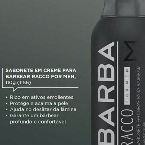Sabonete Em Creme Para Barbear For Men  Racco