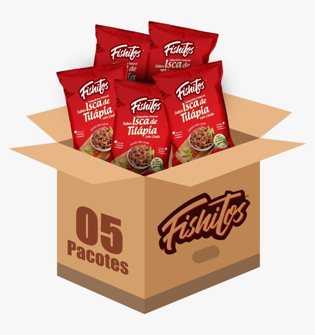 Snack Pururuca de Tilápia 35g Kit 5 pacotes - Fishitos
