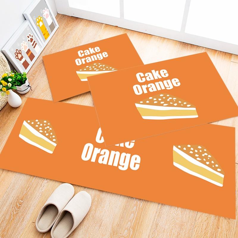 Tapete Cozinha Cake Orange, 3 pçs - 40x120cm
